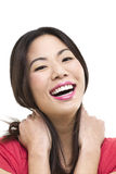 Laughing Asian woman portrait Stock Image
