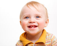 Laughing baby stock image