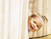 Laughing baby stock photography