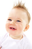 Laughing baby boy. On white background Royalty Free Stock Images
