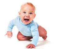 Laughing baby boy Royalty Free Stock Photo
