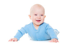 Laughing baby boy Royalty Free Stock Images