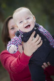 Laughing Baby Boy Having Fun With Mommy Outdoors Royalty Free Stock Images