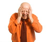 The laughing bald man Royalty Free Stock Photo