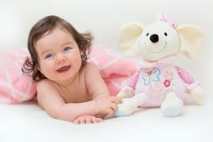 Laughing beautiful baby girl Stock Image