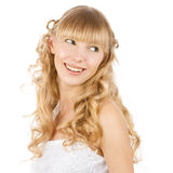 Laughing beautiful bride Royalty Free Stock Images