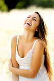 Laughing beautiful woman Stock Photos