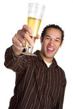 Laughing Beer Man Royalty Free Stock Photo