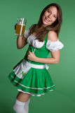 Laughing Beer Woman Stock Image
