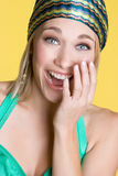Laughing Blond Royalty Free Stock Photography