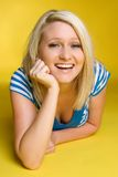 Laughing Blond Girl Royalty Free Stock Image