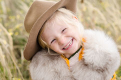 Laughing blond girl Stock Photography