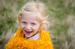 Laughing blond girl Royalty Free Stock Photos