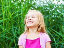 Laughing Blonde Little In Summer Stock Image