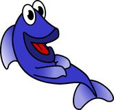 Laughing Blue Fish Royalty Free Stock Photo