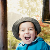 Laughing boy. Portrait of laughing little boy Royalty Free Stock Photo