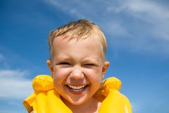 Laughing boy Royalty Free Stock Photo