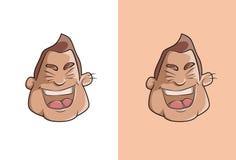 Laughing boy cartoon face. Royalty Free Stock Photo