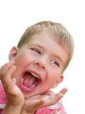 Laughing boy isolated Stock Photography