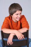 Laughing boy preteen Royalty Free Stock Photos