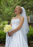 Laughing Bride!. Captured this after a joke was told during the shoot Stock Photo