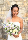 Laughing bride on wedding Stock Image