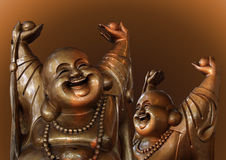 Laughing Buddha figures Stock Image