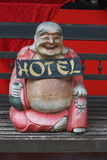 Laughing Buddha Hotel Sign Stock Photo