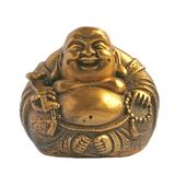 Laughing Buddha in a Sphere Shape. Commonly used in feng shui royalty free stock image