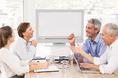 Laughing business people having a meeting Royalty Free Stock Photos