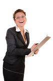 Laughing business woman Royalty Free Stock Photo