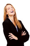 Laughing business woman Stock Images