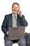 Laughing businessman royalty free stock photo