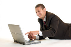 Laughing Businessman stock images