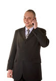 Laughing Businessman Calling On Phone Royalty Free Stock Images