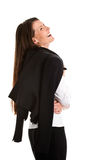 Laughing businesswoman Stock Photo