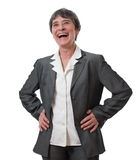 Laughing businesswoman Royalty Free Stock Photos