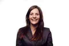 Laughing businesswoman Stock Photos