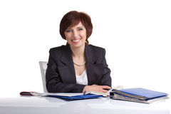 Laughing  businesswoman Royalty Free Stock Photography