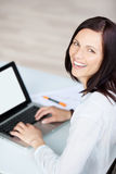 Laughing businesswoman Stock Photography