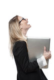 Laughing businesswoman Stock Photos