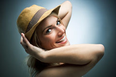 Laughing charismatic young woman Royalty Free Stock Image