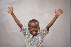 Free Laughing Cheerful African Black Boy Is Incredibly Happy With Copy Space Royalty Free Stock Image - 172696886