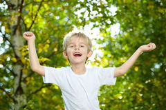 Laughing child Stock Images