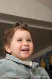 Laughing child during haircut at home Royalty Free Stock Photography