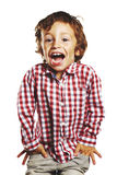Laughing child with hands in pockets Stock Photo