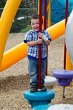 Laughing child at playground royalty free stock photography