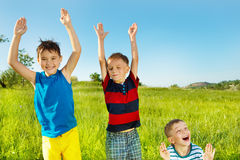 Laughing children Stock Image
