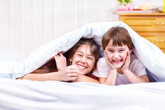 Laughing children Royalty Free Stock Photo