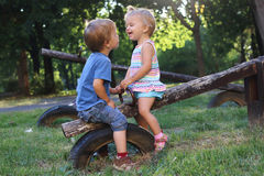 Laughing children stock photography